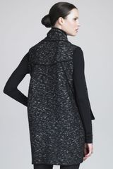 Donna Karan New York Urban Tweed Vest in Black - Lyst