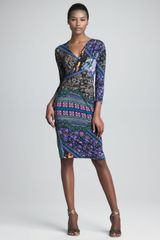 Etro Faux Wrap Dress - Lyst
