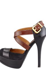 Fendi Fendista Spazzolato Crisscross Pump in Black - Lyst