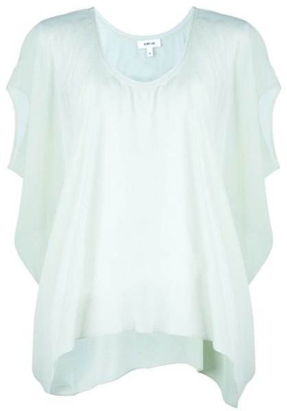 Helmut Lang Drape Top in Green - Lyst