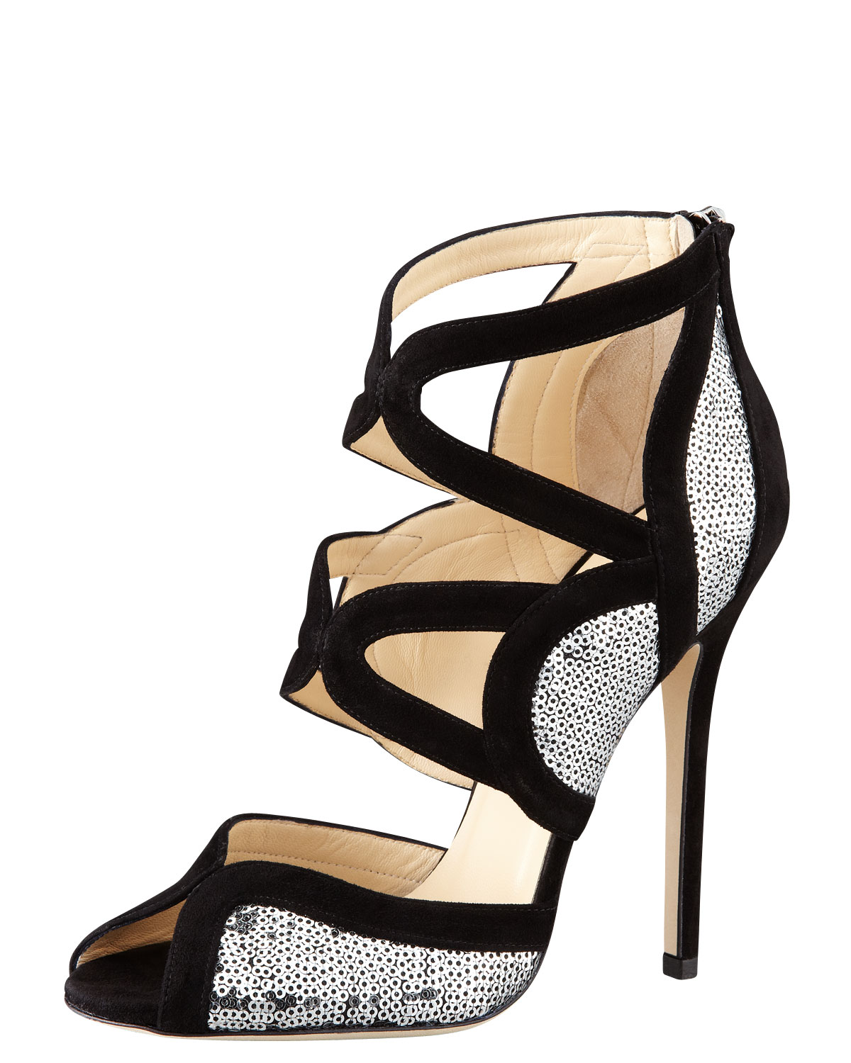 Jimmy Choo Sequined Pearl-Embellished Sandals explore clearance 2014 explore cheap price footlocker finishline for sale r5zetSxb