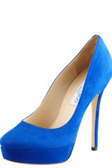 Jimmy Choo Cosmic Suede Pump - Lyst