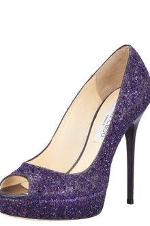 Jimmy Choo Crown Glittered Pump - Lyst