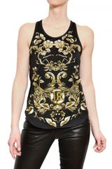 John Richmond Printed Cotton Jersey Tank Top - Lyst