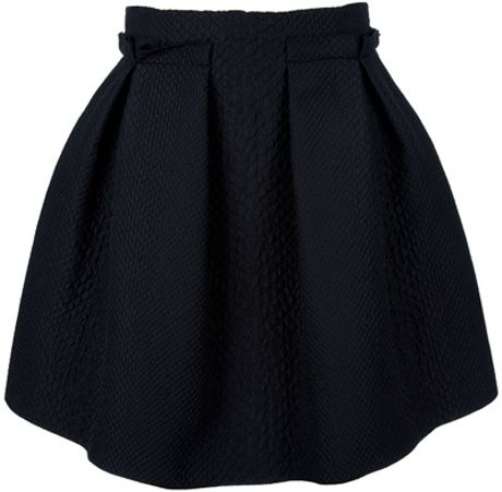 Lanvin Pleated Skirt in Black - Lyst
