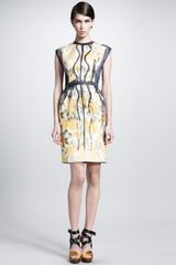 Lanvin Trompe Loeil Paintedpleat Dress - Lyst