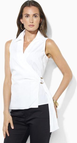 Women'S Sleeveless Wrap Blouse 98