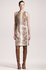 Maison Martin Margiela Python Knit Shift Dress - Lyst