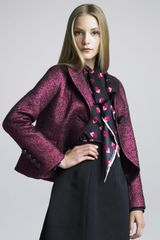 Marc Jacobs Womens Onebutton Boucle Swing Jacket - Lyst