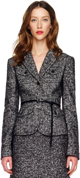 Michael Kors Herringbone Jacket in Black
