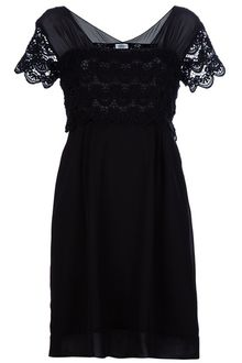 Philosophy di Alberta Ferretti Sheer Lace Panel Dress - Lyst