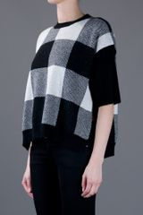 Stella Mccartney Checked Jumper in Black - Lyst