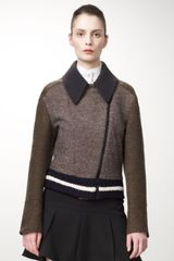 Stella McCartney Womens Tweed Varsity Jacket - Lyst