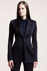 The Row Crepeback Satin Tuxedo Jacket - Lyst