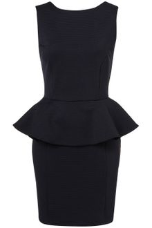 Topshop Ribbed Peplum Pencil Dress - Lyst