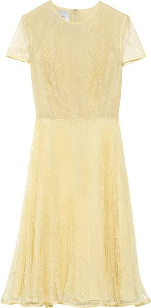 Valentino Plissé Lace Dress - Lyst