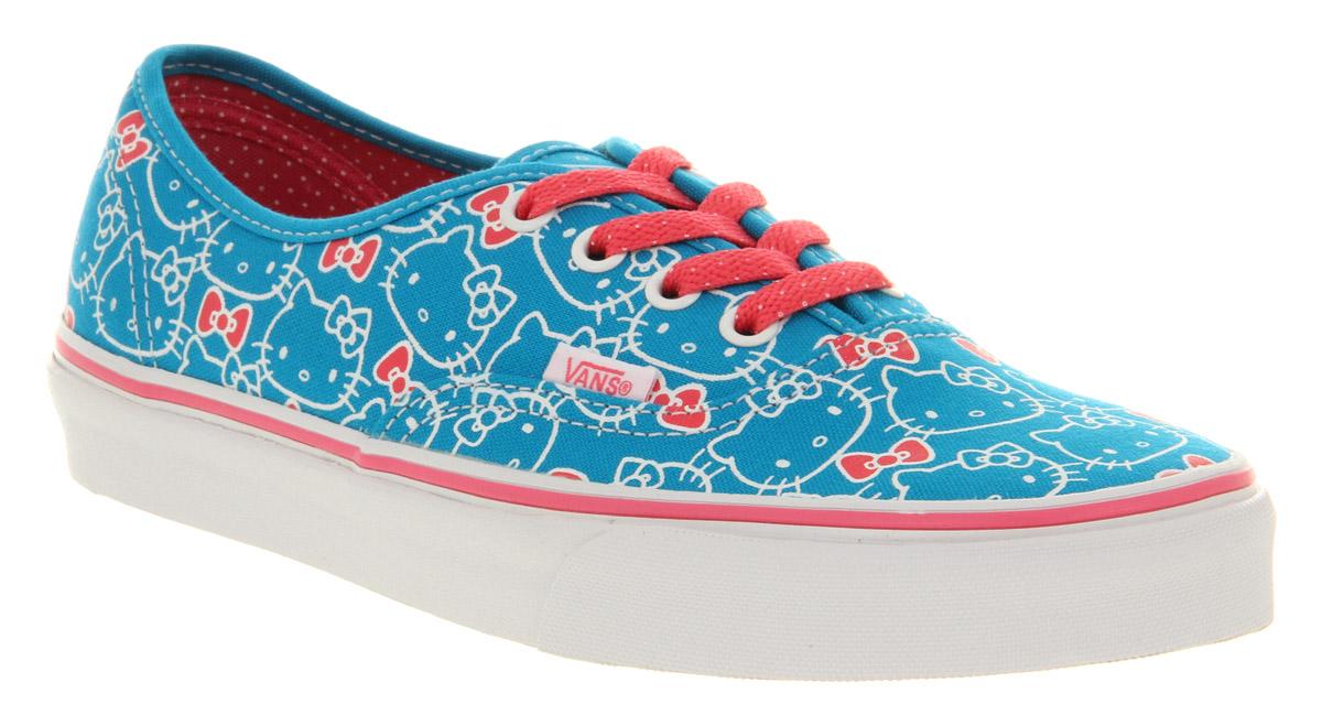 e3c4511f3b Lyst - Vans Authentic Hello Kitty Hawaiian Ocean Hot Pink in Blue ...