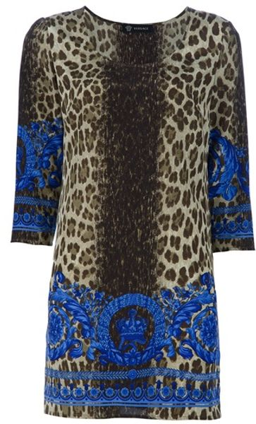 Versace Printed Tunic in Multicolor (green)