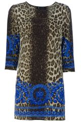 Versace Printed Tunic in Multicolor (green) - Lyst