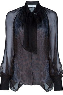 Yves Saint Laurent Pussy Bow Blouse - Lyst