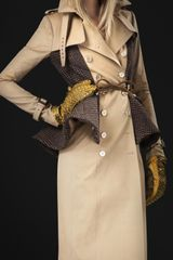 Burberry Prorsum Wool Peplum Trench Coat - Lyst