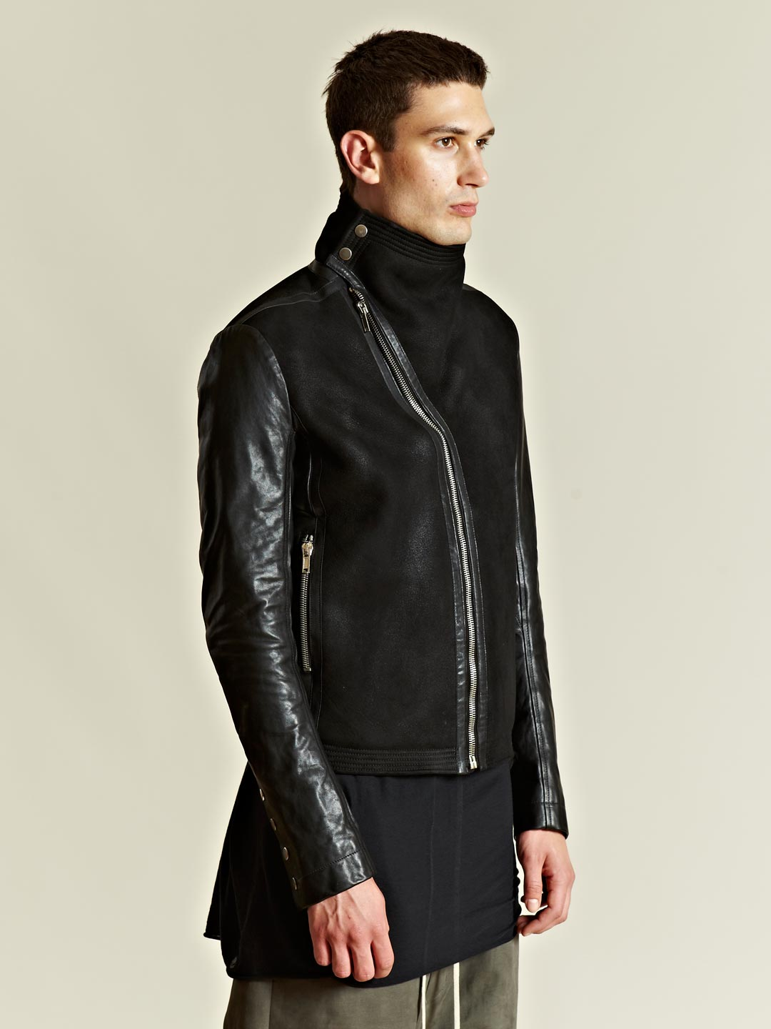 Rick Owens Rick Owens Mens Calfskin And Lamb Leather