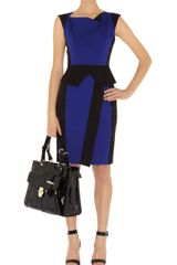 Karen Millen Colourblock Sculptural Dress - Lyst