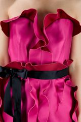 Lanvin Ruffle Dress in Purple (fuchsia) - Lyst