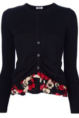 Moschino Cheap & Chic Flower Trimmed Cardigan