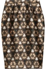 Prabal Gurung Printed Wool And Silk Blend Pencil Skirt - Lyst