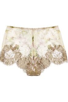 Rosamosario Classica Bellezza Silkcreponne and Lace French Briefs - Lyst