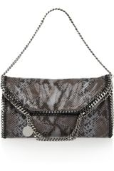 Stella McCartney Falabella Faux Python Shoulder Bag - Lyst