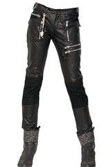 Tuesday Night Band Practice Zipped Leather Trousers - Lyst