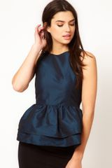 ASOS Collection Asos Top with Tutu Peplum - Lyst
