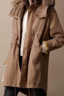 Burberry Brit Fur Trim Warmer Parka - Lyst