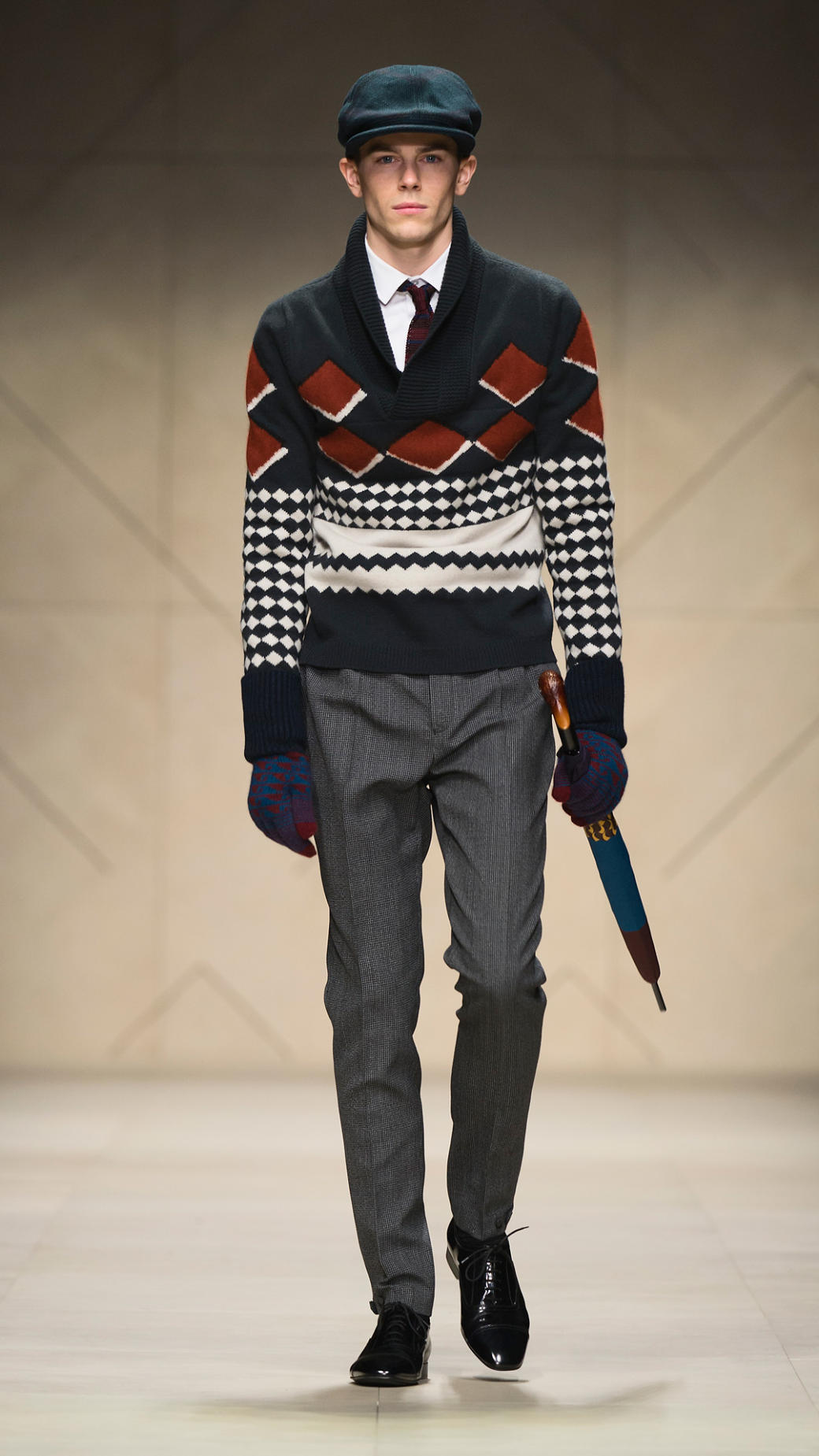 Burberry prorsum Fair Isle Shawl Collar Sweater for Men | Lyst