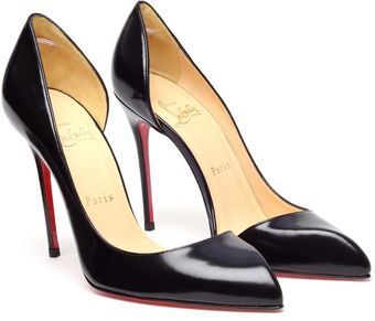 Christian Louboutin Chiarana Cutout Glossed Leather Pumps - Lyst