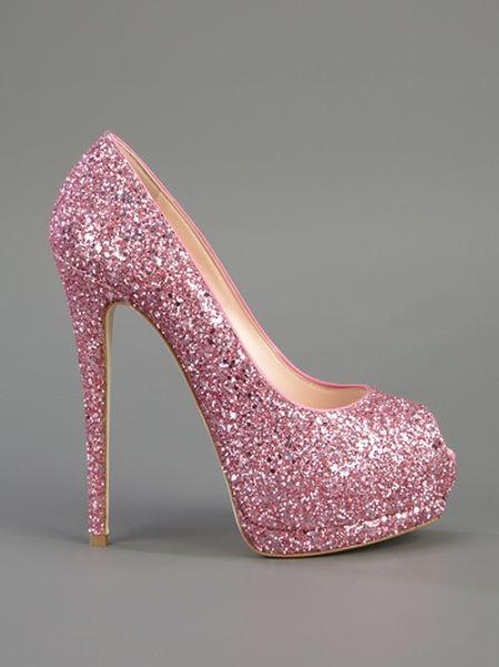 Giuseppe Zanotti Glitter Embellished Pump In Pink Lyst