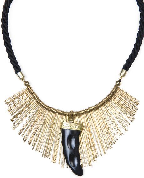 Mango Horn Cord Necklace in Gold (94) - Lyst