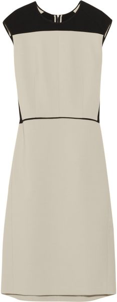 Narciso Rodriguez Serge TwoTone Wool Blend Crepe Dress in Gray - Lyst