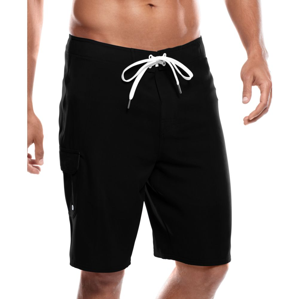 Nike Solid Board Shorts in Black for Men | Lyst