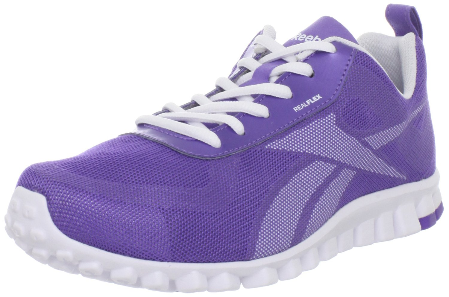 reebok womens realflex scream running shoe in purple