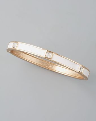 Sequin Skinny Crystalstation Bangle White - Lyst