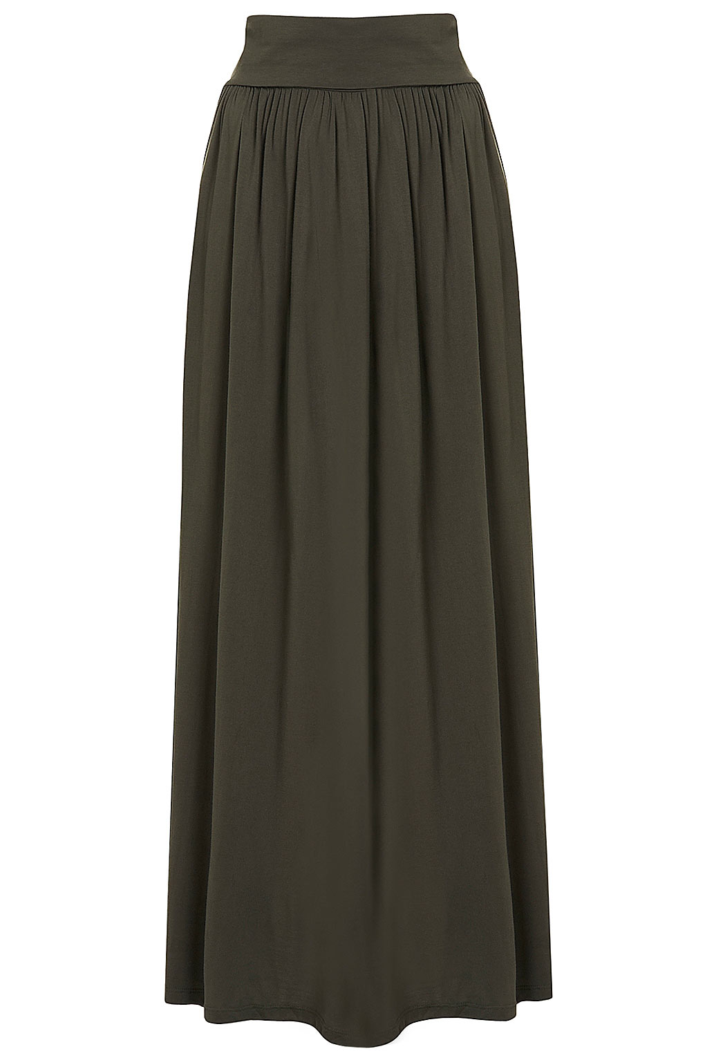 topshop fold maxi skirt in lyst