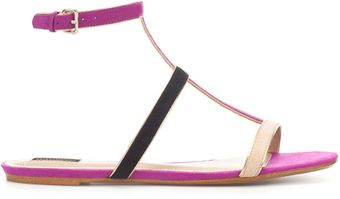 Zara Sandal with Combined Straps - Lyst