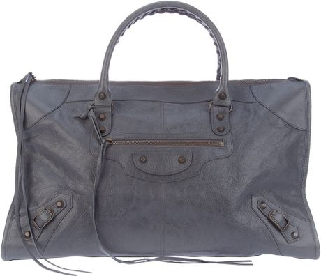 Balenciaga Classic Work Tote in Gray (grey) - Lyst