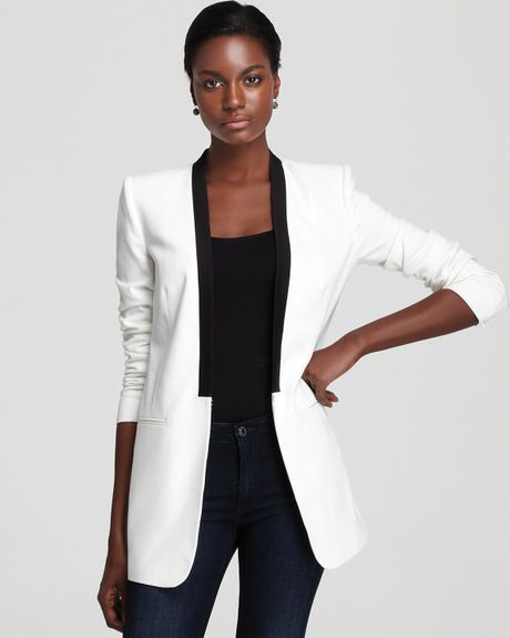 Bcbgmaxazria Tuxedo Jacket Lawson Boyfriend in White (off white) - Lyst