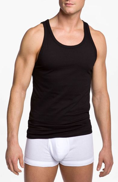 Calvin Klein Slim Fit Tank in Black for Men