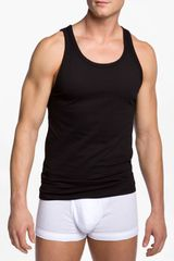 Calvin Klein Slim Fit Tank in Black for Men - Lyst