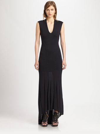 Helmut Lang Jersey Mermaid Dress - Lyst